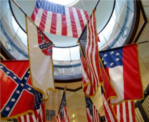 "In the VA's defense, they did fly two out of three actual Confederate national flags, and according to that old honkey spiritual, ""two out of three ain't bad."""
