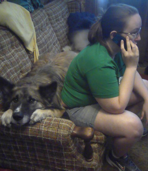 If you weren't trying to multitask, you'd notice you're SITTING ON THE DOG.