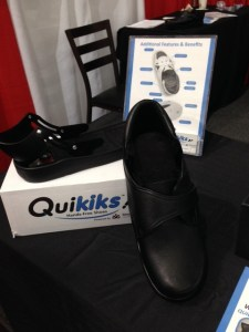 Quikiks - a special heel allows your foot to slip in with no need to tie laces