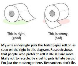 Dishwasher - toilet paper