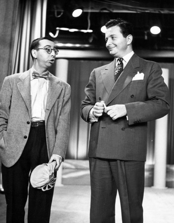 1951 photo of Arnold Stang with Henry Morgan