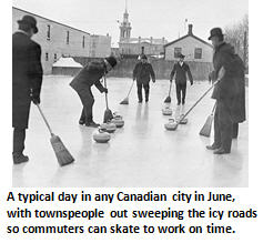 Canada - sweeping men