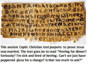 Jesus - papyrus text