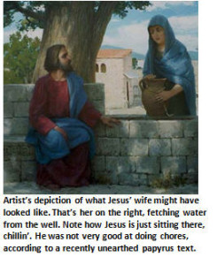 Jesus - with his wife - email