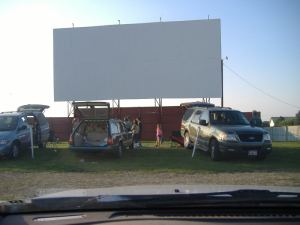 drive-in screen