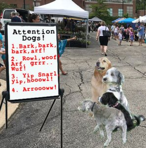 <strong>Farmers market animal control rules would be more effective directed at dogs, not Giants.</strong>