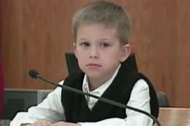 Image result for little boy in witness stand
