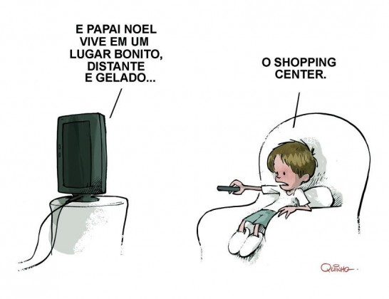 Papai noel mora no Shopping