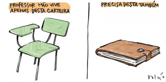 E o salário do professor ó...