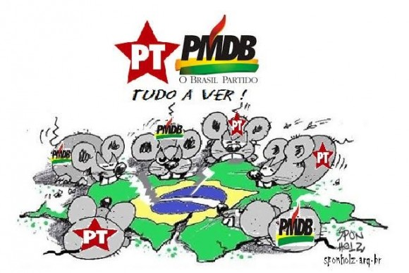 Rataiada do PT e do PMDB