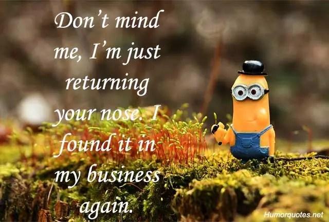 Don't mind me, i'm just returning