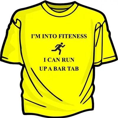 T-shirt humorous lines
