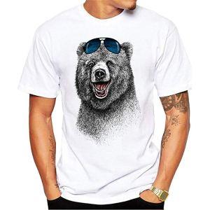 Rire Ours Hommes T-Shirt Manches Courtes Hommes Le Plus Heureux Ours
