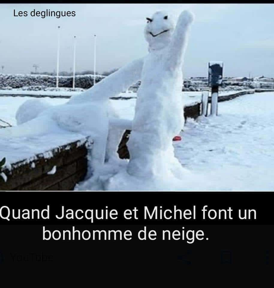 Quand Jacquie et Michel font un bonhomme de neige
