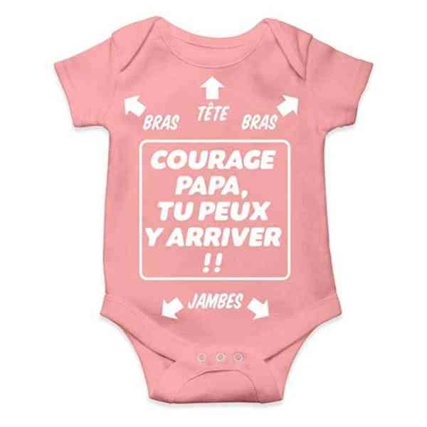 Body bébé Humour - Courage Papa, tu Peux y Arriver !!