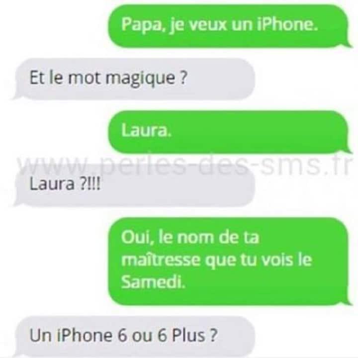 Papa, je veux un iphone