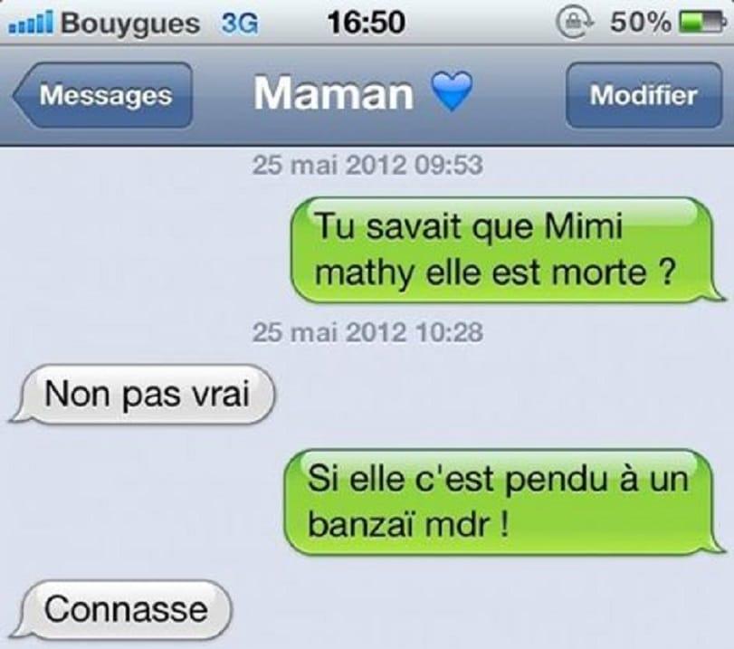 Tu savait que Mimi mathy elle est morte ?