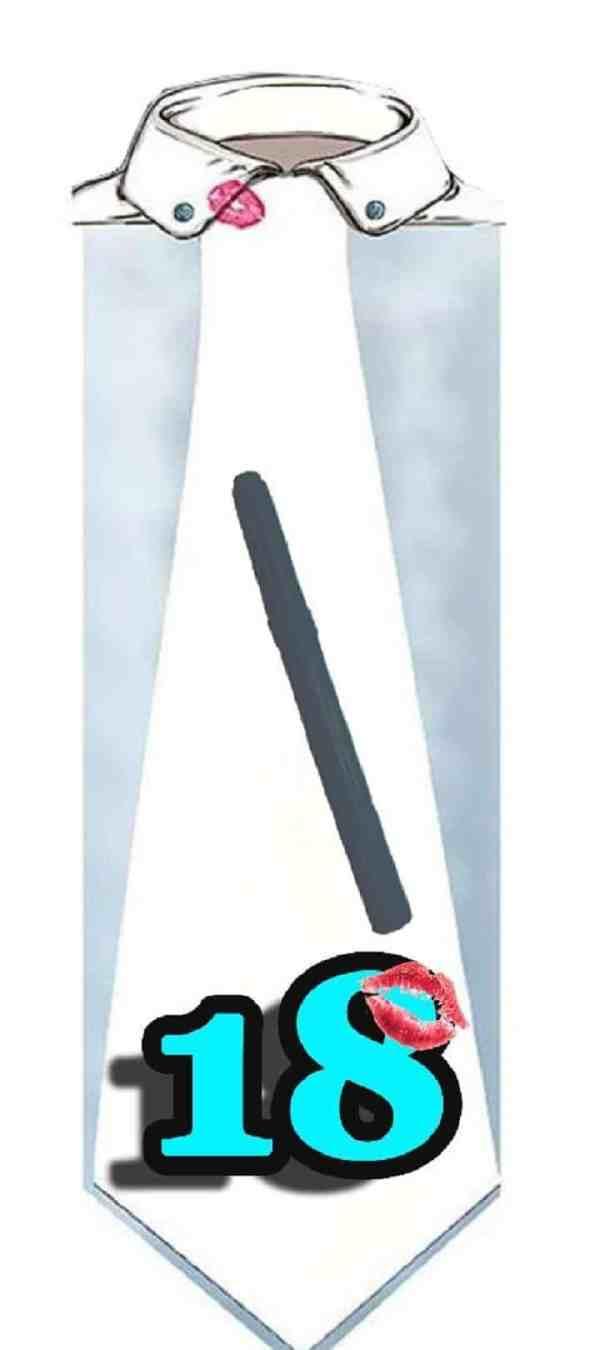 Cravate 60 cm Homme 18 Ans à dédicacer