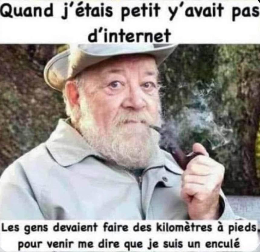 Quand j'étais petit y'avait pas d'internet