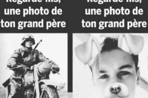 Regarde fils, une photo de ton grand père