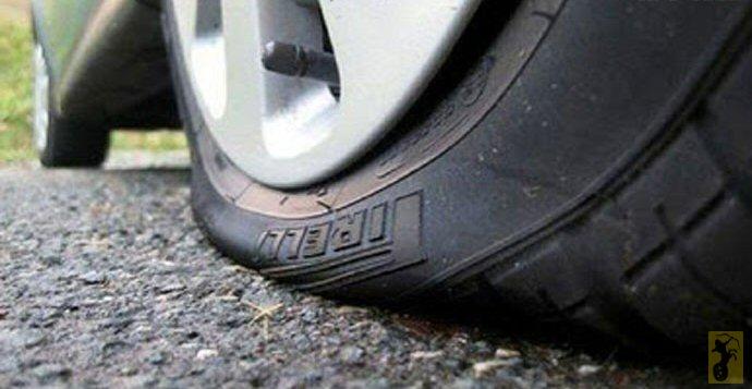 Coup de pompe et pneu crevé