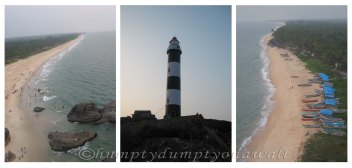The signature landmark of Kapu - The lighthouse and the lovely view of the Western Coasline