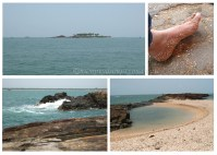 St. Mary's island a rocky island with sand made of broken sea shells !