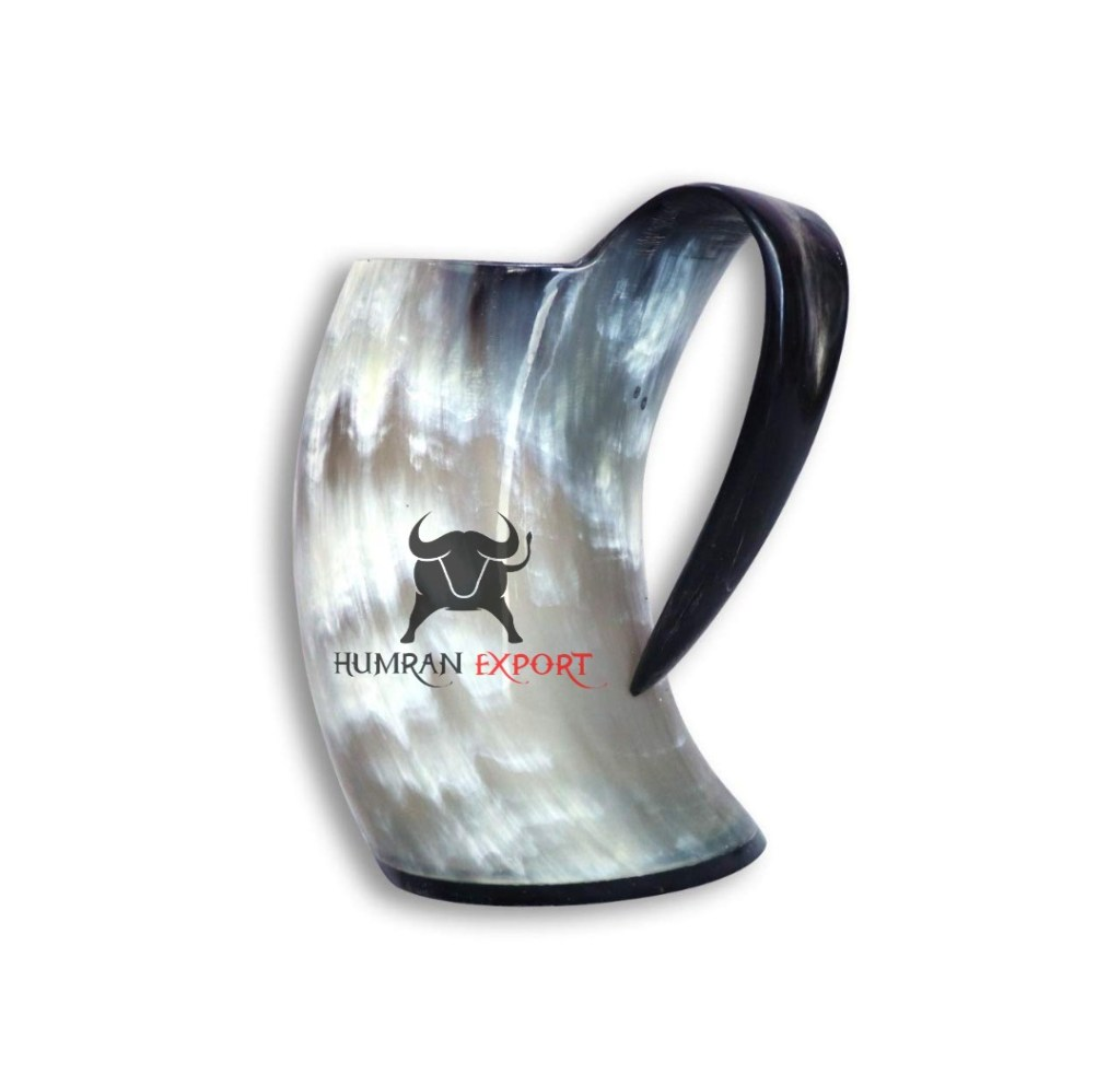 water buffalo horn mug