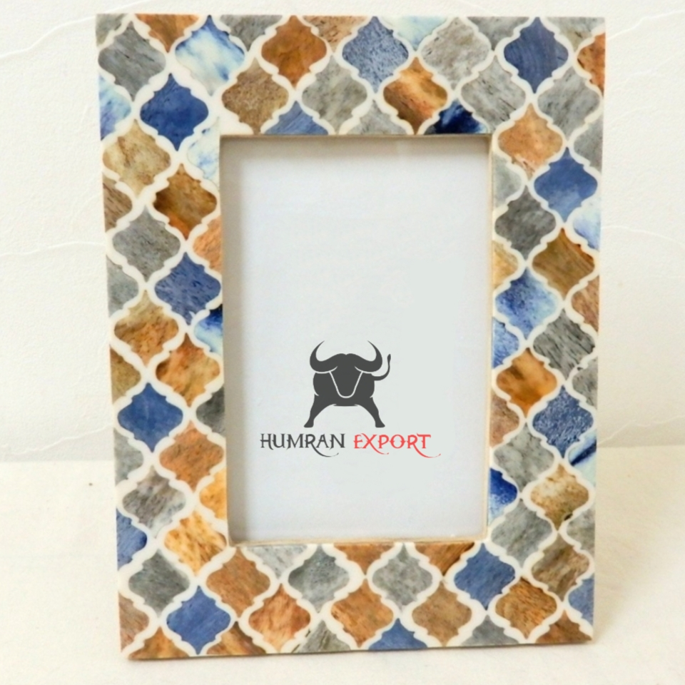 BONE INLAY PHOTO FRAME