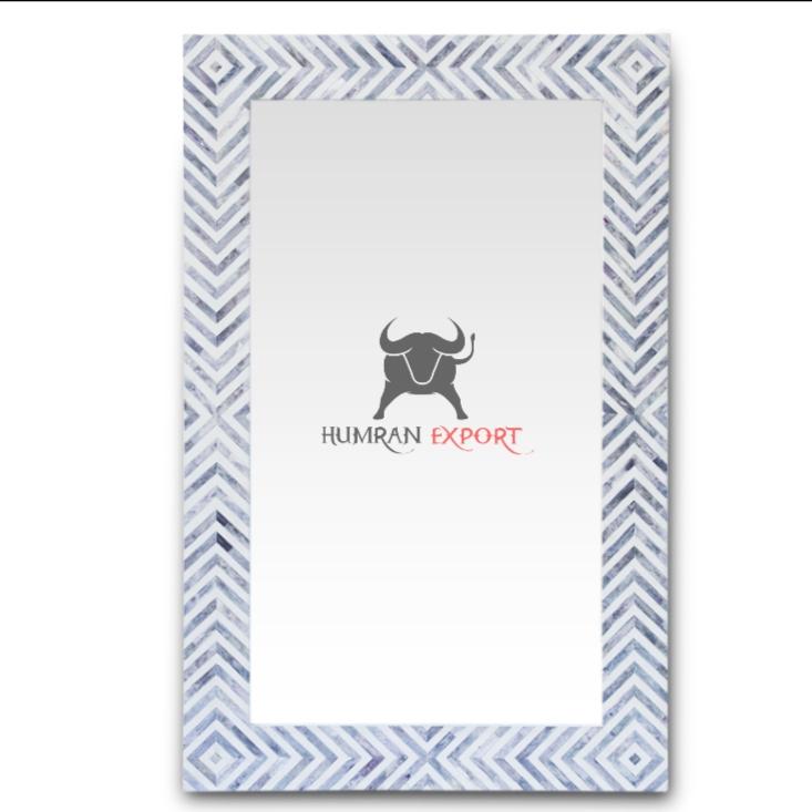 bone inlay mirror frame