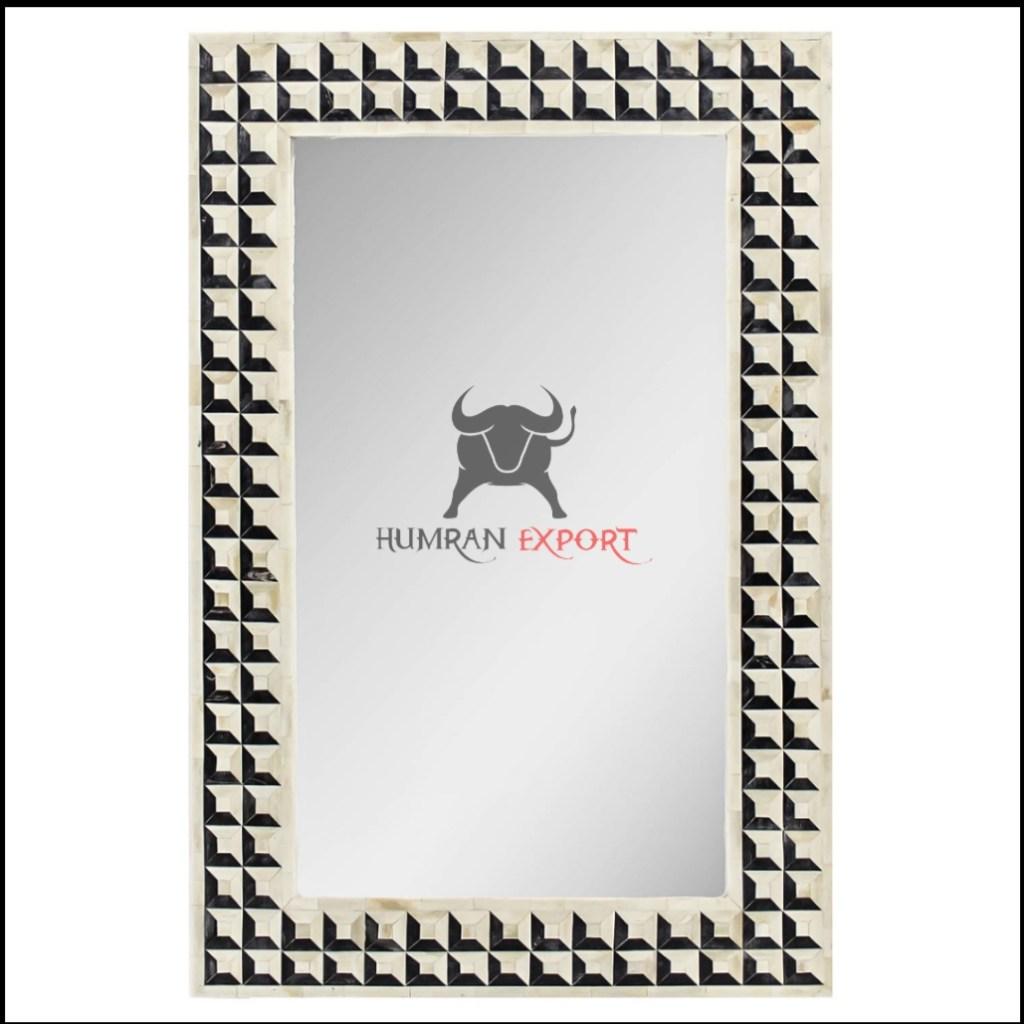 square bone inlay mirror frame