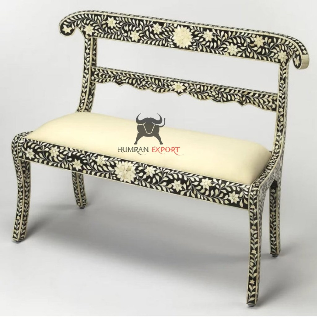 BONE INLAY BENCH TWO SEATER