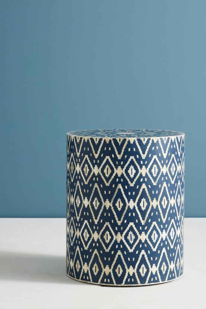 blue bone inlay stools