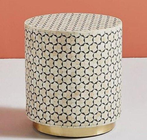 targua bone inlay stool
