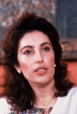 18 Dec 1987, Karachi, Pakistan --- Benazir Bhutto on her wedding day, December 1987. Bhutto went on to become the first woman prime minister of a modern Muslim state. --- Image by © Francoise de Mulder/CORBIS