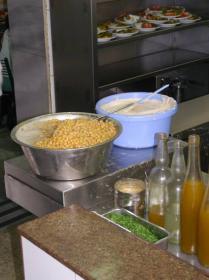 Hummus Said kitchen.