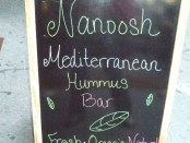 Hummus Nanoosh sign