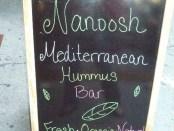 Hummus Nanoosh sign