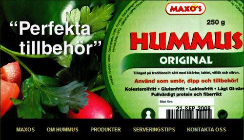 Maxo's hummus