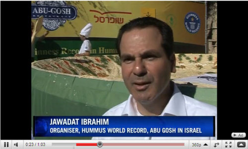 AbuGosh largest hummus plate video