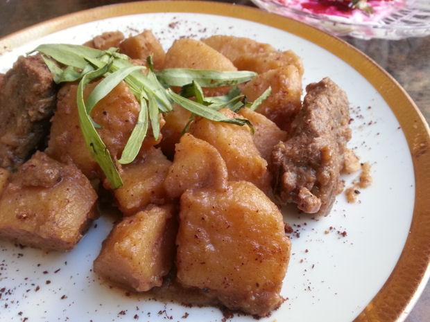 מאודה, תבשיל תפוחי אדמה ובקר