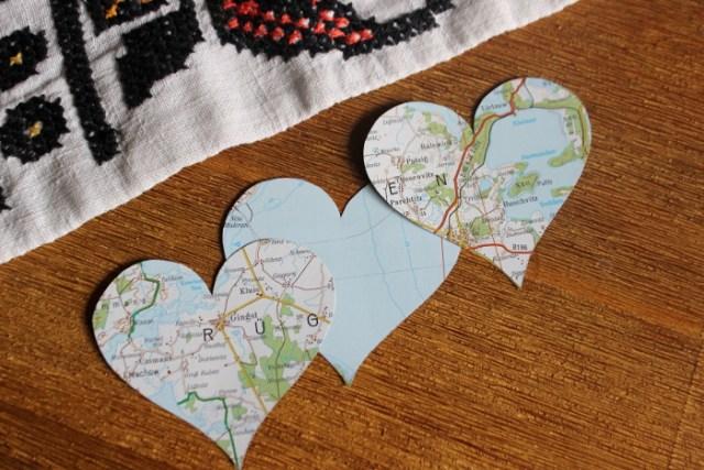 Herzen für die Valentinstagskarte
