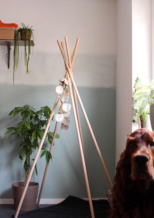 Farbverlauf DIY Wand streichen Mustertapete - Hundebloghaus