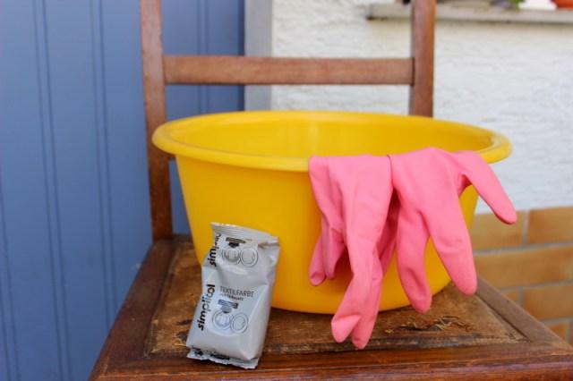 Teepee Stoff batiken DIY Tipi selbermachen Textilfarbe