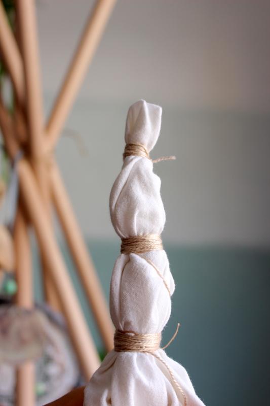 Teepee Tipi selbermachen batiken DIY Bastelei
