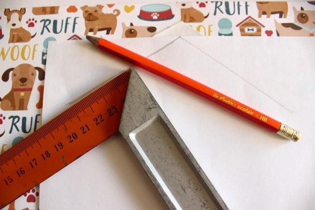 DIY Kuvert Briefpapier Briefkuvert Hundemotiv