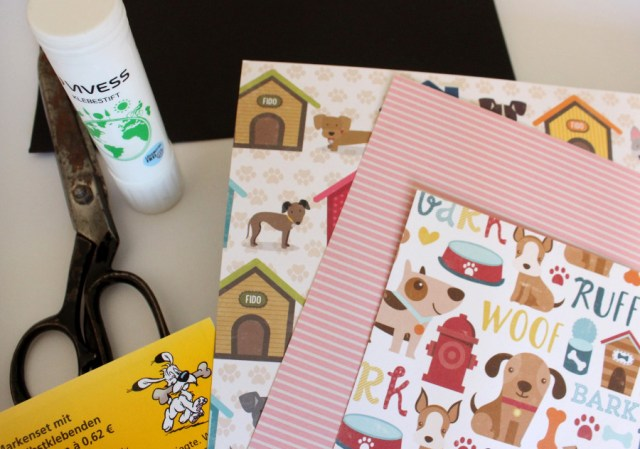DIY Kuvert mit Hundemotiv basteln mit Kindern