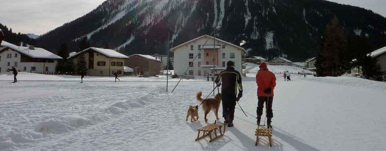 Spaziergang von Davos