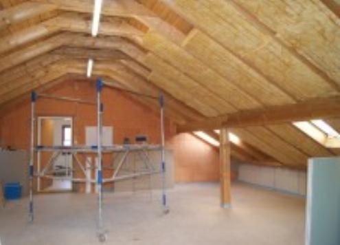 Baustelle: Dachgeschoß des bestehenden Gebäudes