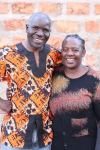 Lawrence and Agnes Yombwe at Wayiwayi Art Studio and Gallery in Zambia, Africa.